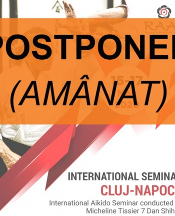 15-17 mai 2020 seminar international cu shihan Micheline Tissier, Cluj-Napoca